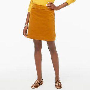 Corduroy Mini Skirt - J. Crew Size 4 in Rust